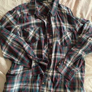 EUC XL LLBean Button down, flannel shirt.